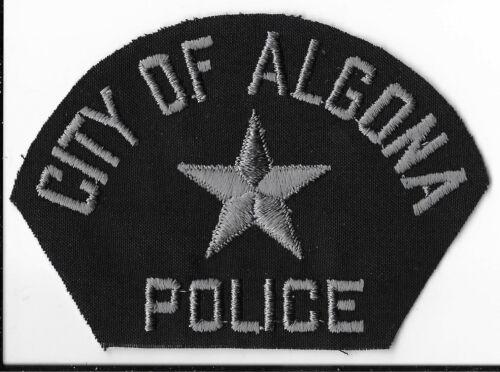 Algona Police Department, Iowa Shoulder Patch