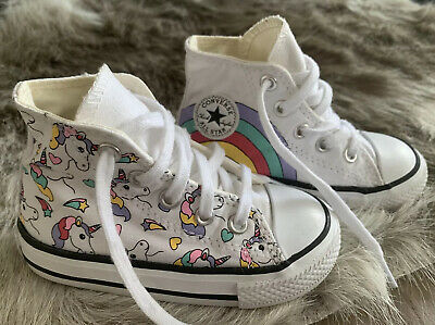 Converse All Star Chuck Taylor Toddler Size 6 Unicorn High Top Shoes
