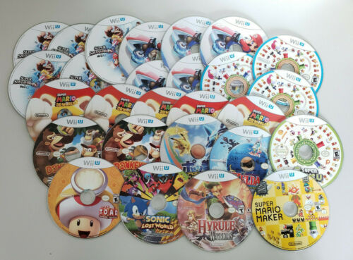 Lot of 27 Loose Nintendo Wii U Game Discs Scratched Defective Untested AS-IS