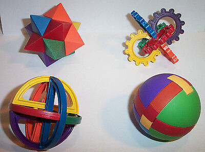Foot Toy - Lot of 4  Activity Plastic Puzzle Balls Parrot Bird Parts Foot Toy Mind Boggling