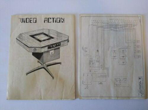 Video Action Arcade MANUAL & Schematics Universal Research Laboratories URL 1975