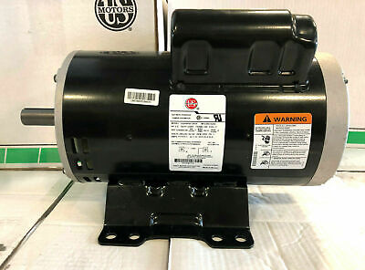 Heavy Duty Air Compressor Motor 230v 3450 Rpm 1 Phase 5hp 184 Fr 78 Shaft