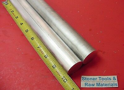 2 Pieces 1-14 Aluminum 6061 Round Rod 10 Long T6511 1.25 Od Solid Bar Stock