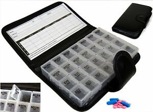 7 Day Pill Wallet Box Organiser Weekly Medicine / Tablet Storage Dispenser