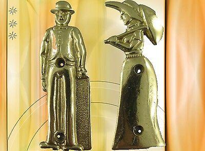 Toiletten Tür Schild Messingpaar Set Messing Vintage Tür Deko Geschenk Nostalgie