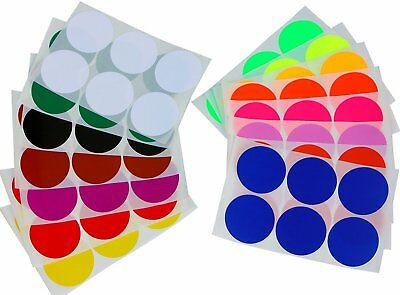 2 Inch Round Dot Stickers 50mm Color Coding Labels Permanent Adhesive Dots