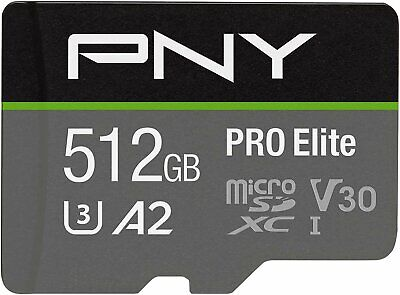 PNY U3 Pro Elite MicroSD Card - 512GB -