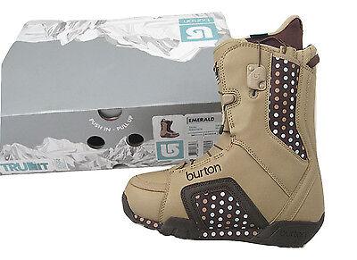 NEW Burton Emerald Snowboard Boots!  US 4, UK 2.5, Euro 34, Mondo 21  Tan/Brown