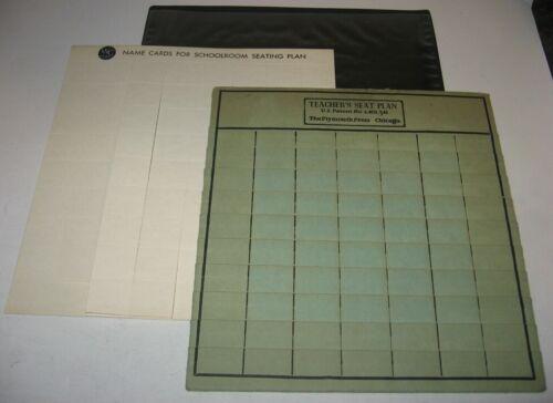 Vintage Teacher Seat Plan w/ Protector Sleeve MCM Gag Elephant Gift Kitsch Retro