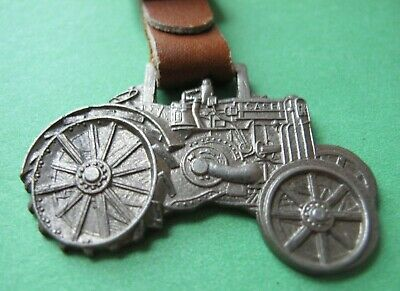 VINTAGE CASE TRACTOR WATCH FOB LEATHER STRAP