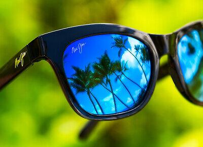 NEW maui jim SWEET LEILANI Polarized womens Sunglasses Black Blue Hawaii CAT (Blue Sunglasses Women)