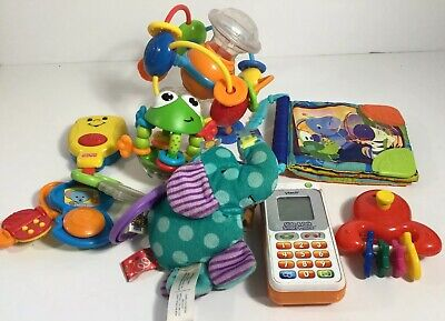 Baby Toys Lot Taggies Fisher Price Bright Starts Tummy Time Learning Play Clean