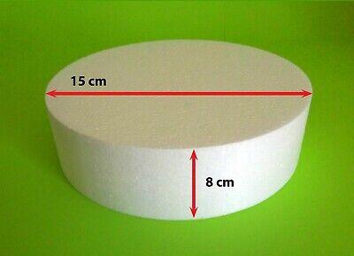 Styropor Scheibe Ø 15 x 8 cm Torte Dummy Hochzeit Grundlage Cupcakes Sockel DIY