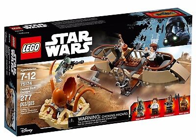 Star Wars LEGO Desert Skiff Escape Set 75174 w Boba Fett, Skiff Guard, Han Solo