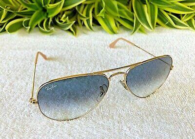Nett Ray-ban Groß Aviator Sonnenbrille Gold Rahmen/Blau Gradient RB 3025 001/