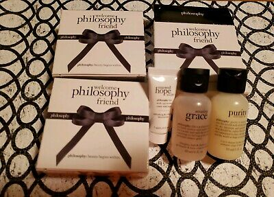 Welcome Philosophy Friend Set Hope in a Jar Purity Made Simple Amazing Grace X3