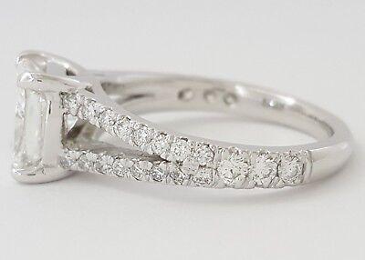 2.59 ct Platinum Cushion Cut Diamond Split Shank Engagement Ring GIA F / VVS1 10