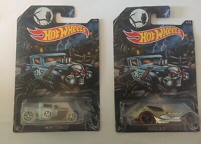 Hot Wheels Happy Halloween! Bone Shaker Die-Cast Car #1/8 & Diselboy #4/8