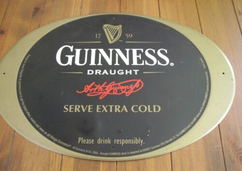 Guinness Draught oval Tin Beer Sign