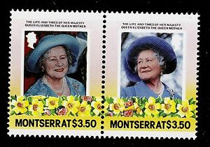 MONTSERRAT-SCOTT-563a-563b-MNH-QUEEN-MOTHER