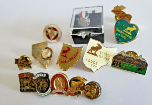 Vintage Loyal Order Moose Lodge Pin PAP Club Mix Lot Lapel Philadelphia Pinbacks