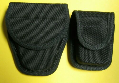 LOT OF 2 BIANCHI ACCUMOLD HANDCUFF POUCH 7300 & PAGER/GLOVE POUCH BARELY USED