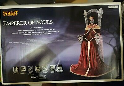 Spirit Halloween prop Decorations 7 Ft Emperor of Souls Animatronic Animated