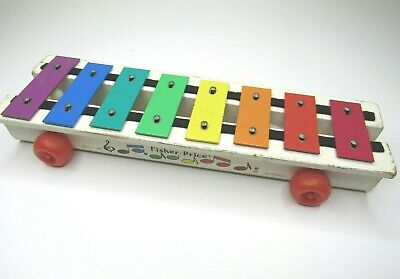 VINTAGE Fisher Price Xylophone Musical Toy 870 Kids Play Music Sounds Fun TESTED Fisher Price Xylophone