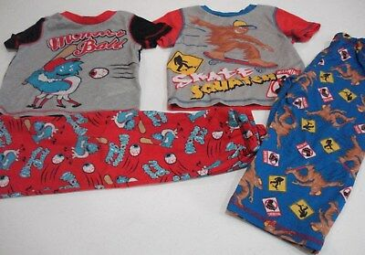 Toddler Boys 4 Piece Pajama Sets Size 3T Short Sleeve Shirt, - Toddler Boys Pjs