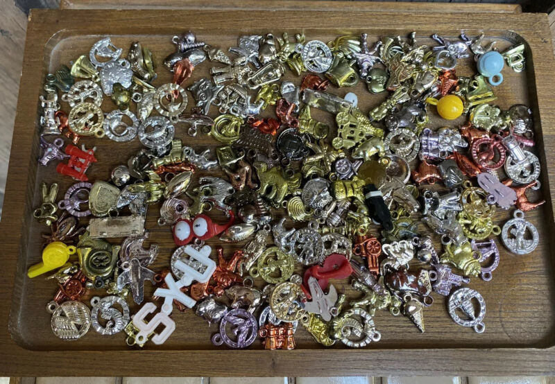 Vintage 100+ Cracker Jack Toy Prize Gumball Premiums Plastic Charms Celluloid