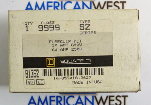 9999S2 Square D 9999 S2 Fuseclip Kit 30A 600V 60A 250V new in Box