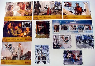 WALT DISNEY STAMPS CHRONICLES OF NARNIA - MINI SHEETS - STAMPS - SOUVENIR CARDS on Rummage