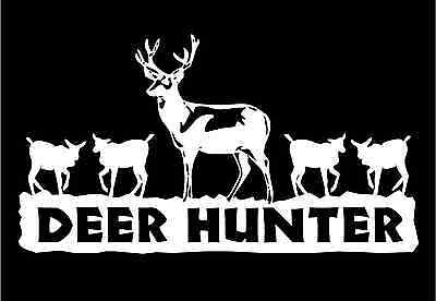 Deer Hunter Decal Buck Doe Car Truck Window Vinyl Hunting Stickers