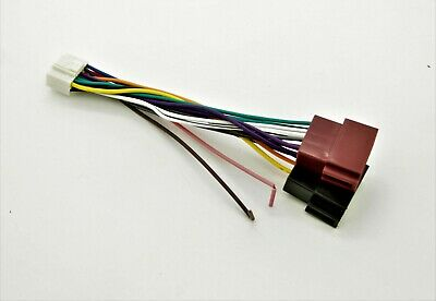 Alpine 16 Pin ISO Wiring Harness Connector Adaptor Lead Loom Cable Wire Plug