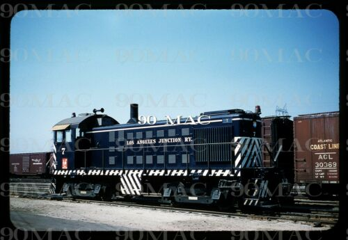 ORIGINAL SLIDE LOS ANGELES JUNCTION RAILWAY #7 KODACHROME 1960 CALIFORNIA