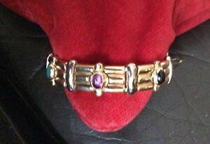 Heavy gold and gemstones bracelet . 35.5 grams. !!!