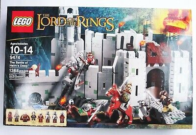 LEGO BATTLE OF HELMS DEEP Lord of the Rings Set 9474 Brand New in Box 1368 pcs