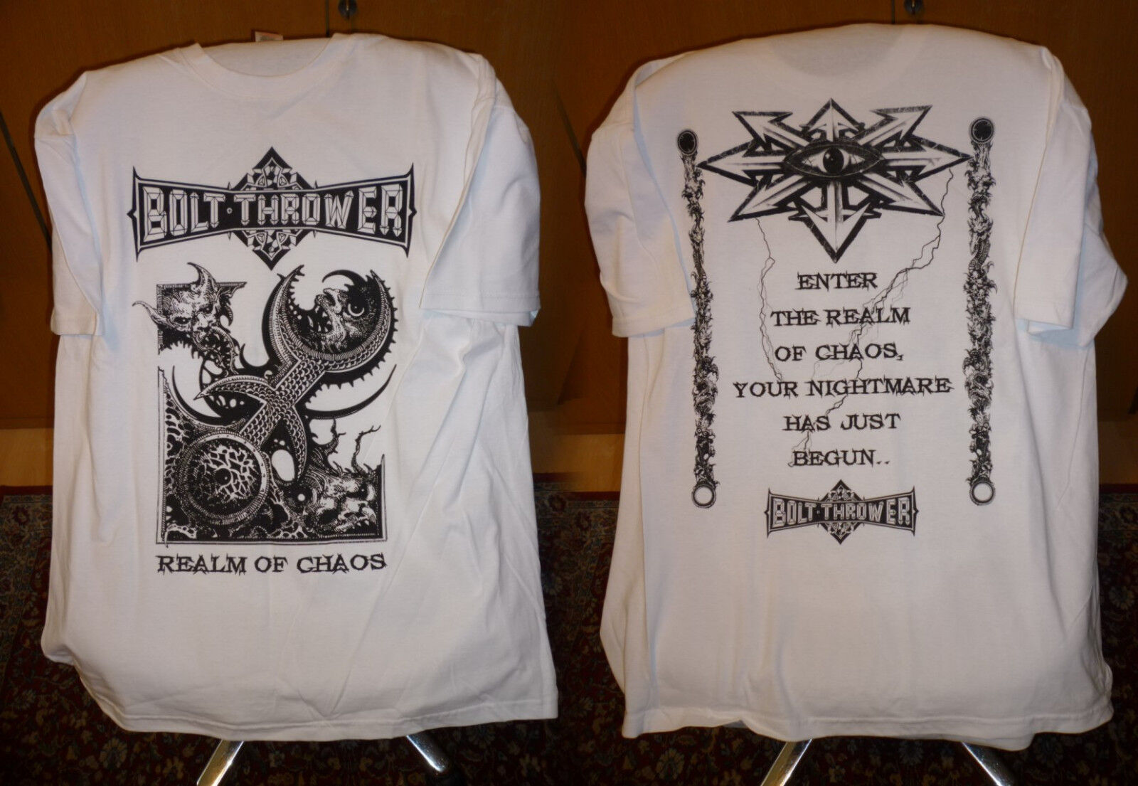 Bolt thrower - White realm T Shirt L NEW Benediction Carcass Morgoth Asphyx