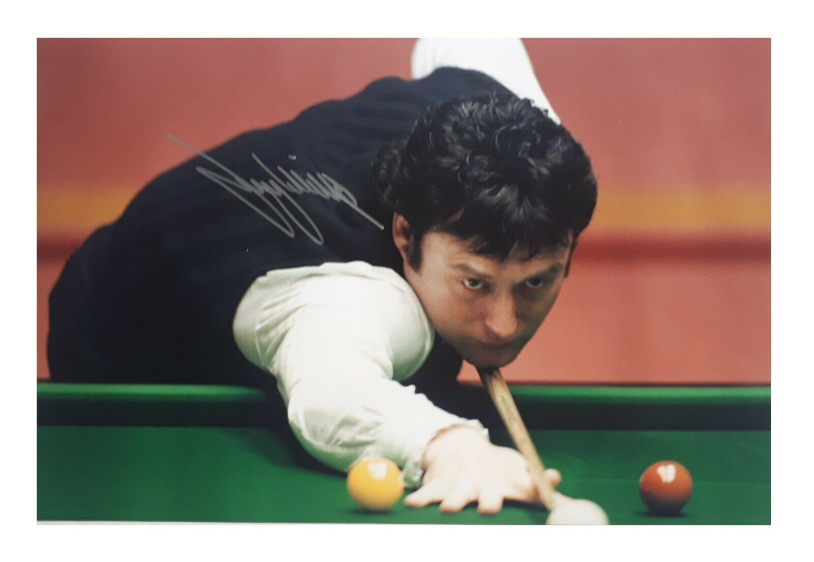 Jimmy White Genuine Signed A4 Photo, Crucible, Snooker, The Whirlwind