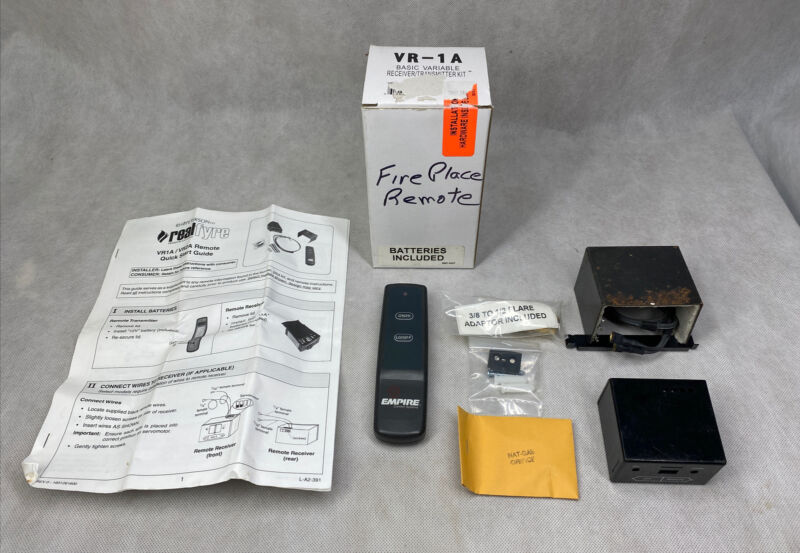 Real Frye Basic Fireplace Variable Receiver Transmitter Kit Remote VR-1A Empire
