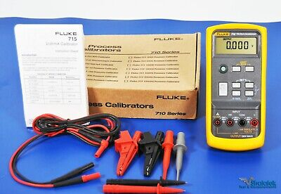 Fluke 715 Voltma Calibrator With Hart Mode 0.015 Accuracy Nist Calibrated