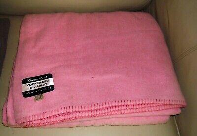Vintage YORKSHIRE Blanket. Pink, 80