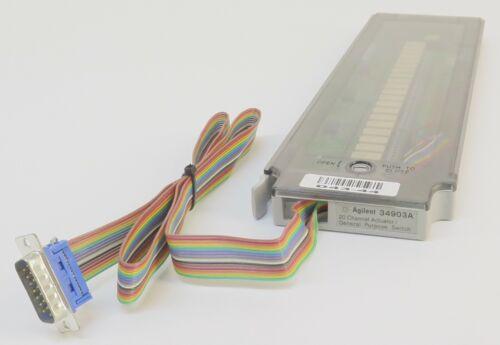 Keysight Agilent HP 34903A 20 Channel Actuator/General Purpose Switch Module