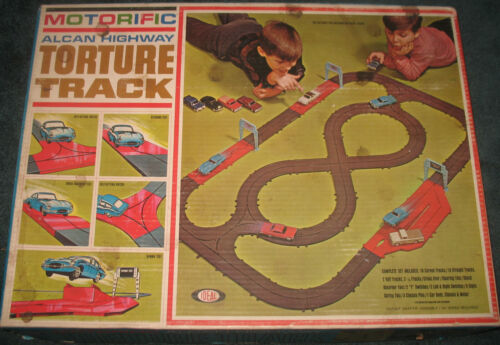 Ideal Motorific Alcan Highway Torture Track Set-- Complete with Car