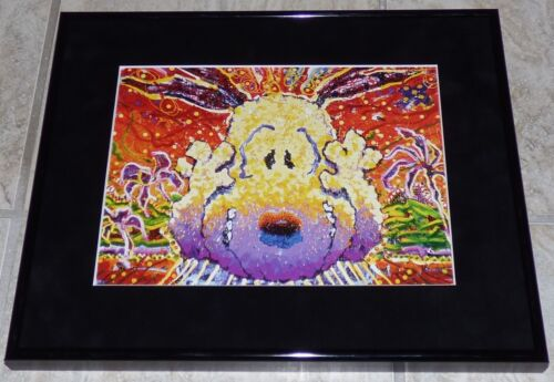 TOM EVERHART PEANUTS SNOOPY NOBODY BARKS IN L.A. FRAMED PRINT CHARLES SCHULZ
