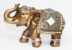 Feng shui elegant elephant trunk statue lucky wealth figurine gift home decor Elephant home decor items