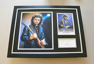 Tony Iommi Signed Framed 16x12 Photo Black Sabbath Memorabilia Autograph Display