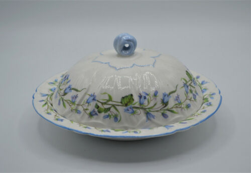 SHELLEY HAREBELL OLEANDER SHAPE ROUND COVERED BUTTER DISH