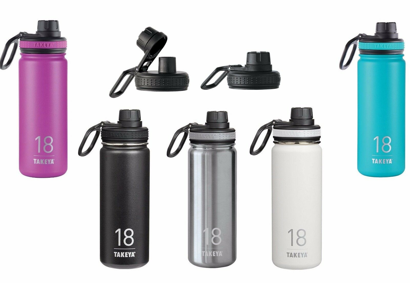 Takeya Thermoflask Double Wall Vacuum Insulated Stainless Bottle 18 oz