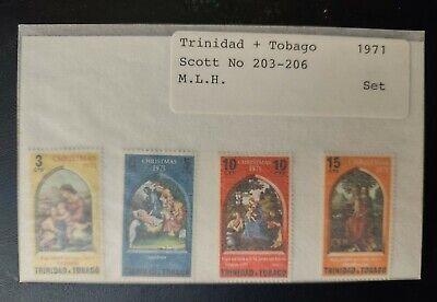 TRINIDAD & TOBAGO STAMPS • MLH 1971 Scott# 203-206 • XMAS • 99¢ LOW START